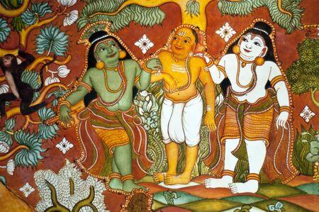 hinduismo: un viejo siglo 10 la pintura telugu en las paredes del templo