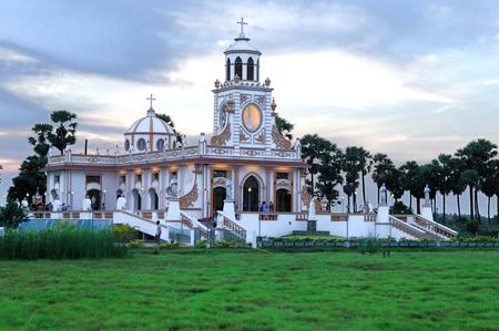 Intricate architecture at a local church in Pondicherry   India