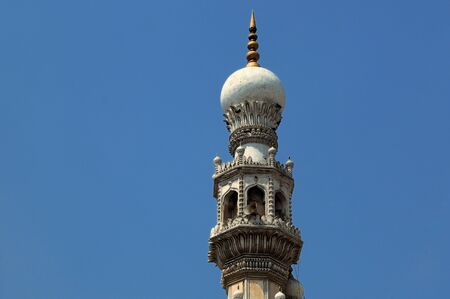 workship: intricate deails at a mosque in hyderabad india Stock Photo