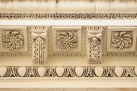 hyderabad: Intricate muslim architecture at the paigah tombs in hyderabad, India Stock Photo
