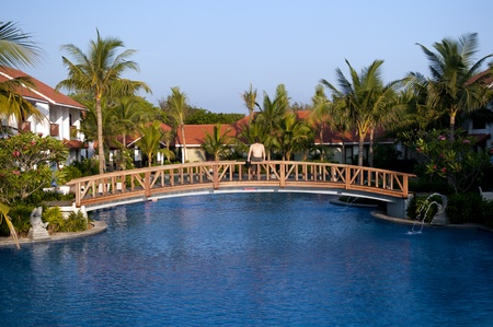 A huge swimmilg pool at a luxury resort in chennai Stock Photo - 13386656