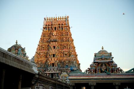 intricate artwork at ancient hindu temple Editorial