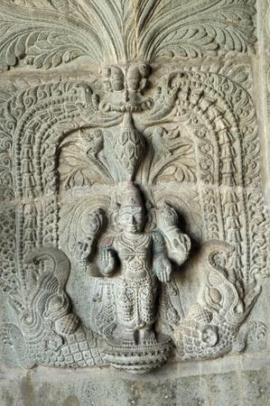 shiva: ?uvre d'art complexe � l'ancienne temple hindou Banque d'images
