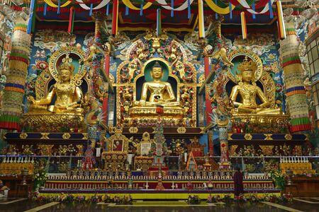 KUSHALNAGAR, KARNATAKA/INDIA- 3rd May 2012, A tibetian monastry in Kushlanagar city of Karnataka India