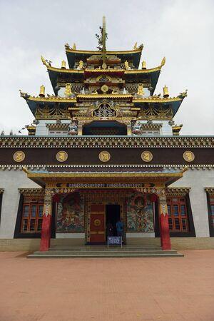 A tibetian monastry in Karnataka India photo