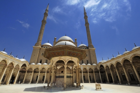 stronghold: The Mosque of Muhammad Ali Pasha or Alabaster Mosque is a Ottoman mosque situated in the Saladin Citadel of Cairo in Egypt and commissioned by Muhammad Ali Pasha between 1830 and 1848.