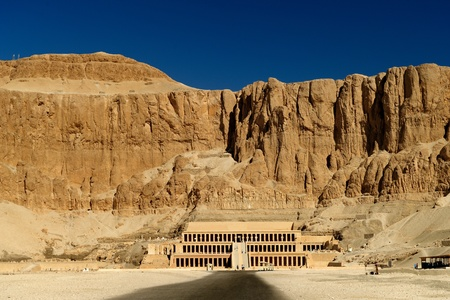 valley of the temples: Awesome Temple of Queen Hatshepsut (1508-1458 BC), between the Valley of Kings and the Valley of Queens, in Luxor (Ancient Thebes), Egypt.