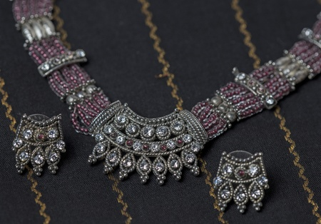 Authentic indian jewellery highlighted for display photo