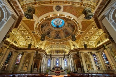 Catedral Basílica de San José es una gran iglesia católica romana situada en el centro de San José. La basílica menor es la catedral de la Diócesis Católica Romana de San José, en California. Foto de archivo - 16284146