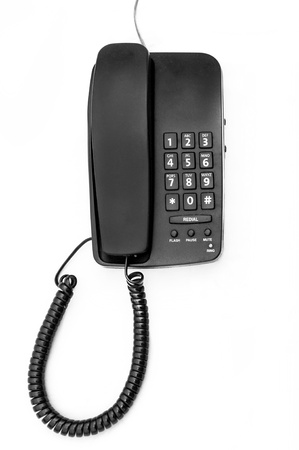 A desk phone isolated on white background
