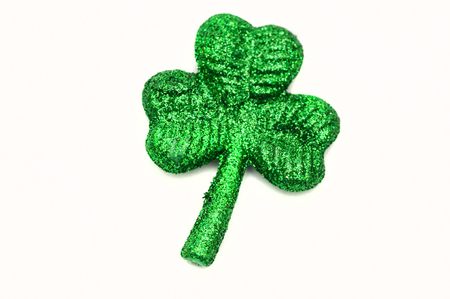 reflaction: Shamrock candy siolated on white back ground
