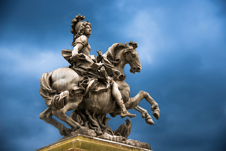 xvi: Status of Loius the XVI at versaillies France