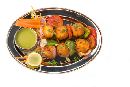 paneer: Spicey Paneer dish isloated on light background