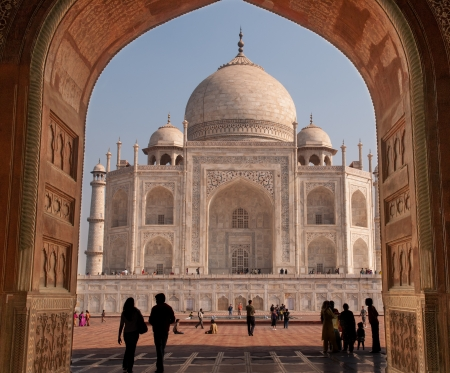 A masterpiece from the 16th century built by the Moghuls Stock Photo