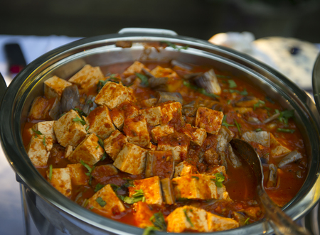 paneer: Indian cottage cheese cooked with special spices