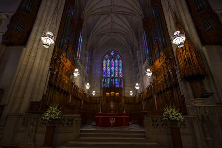 Intricate details od duke chapel in Durham NC