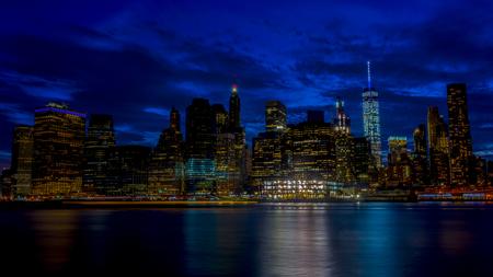 NY Sky panorama from the brooklyn bridge