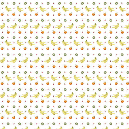 8bit: 8bit fruits pattern