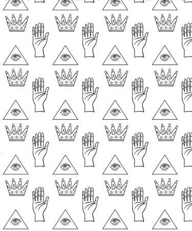 crown hand triangle pattern