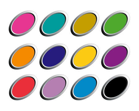 buttons oval Vector