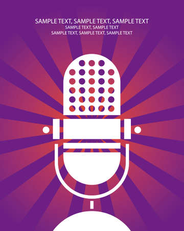 retro microphone poster