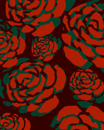 flora vector: pattern rose