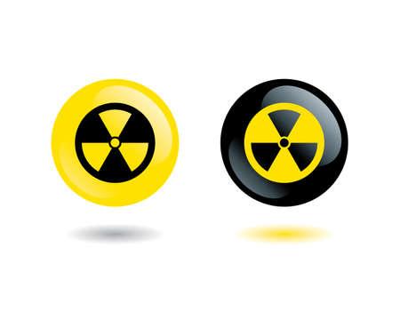 radioisotope: sign radiation Illustration