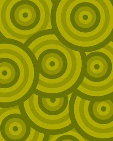 pattern circle green