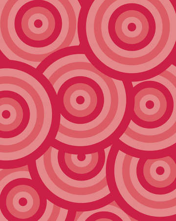 pattern circle red Stock Vector - 5131227