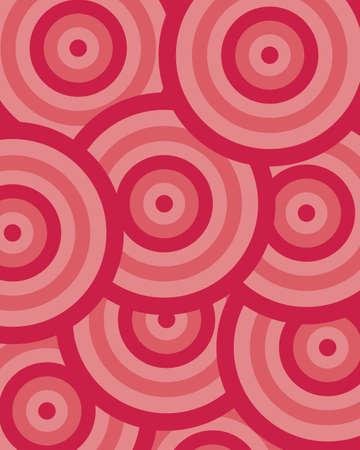 pattern circle red Illustration