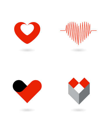 saludable logo: corazones vector 1 Vectores
