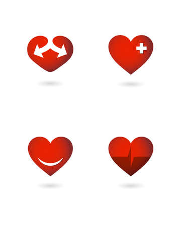 vector hearts Иллюстрация
