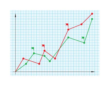 business chart 1 Stock Vector - 5374279
