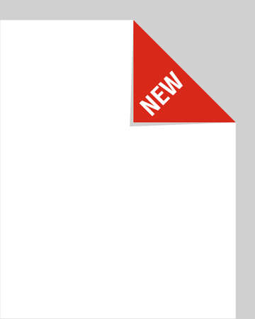 New corner tab Vector