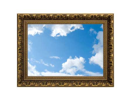 gold frame  sky photo