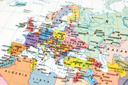 map of Europe photo