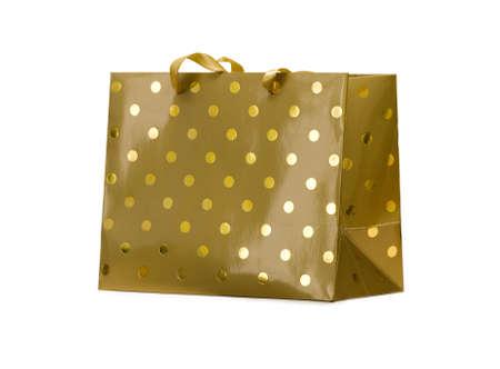 Golden paper bag Stock Photo - 6722654