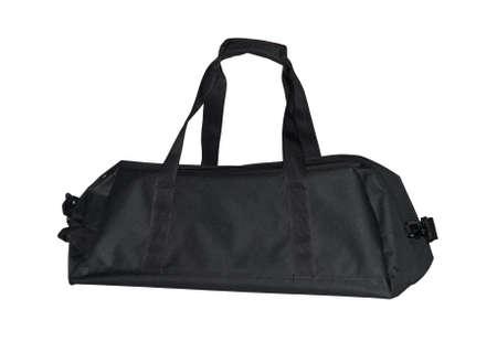 duffel: black sporting bag