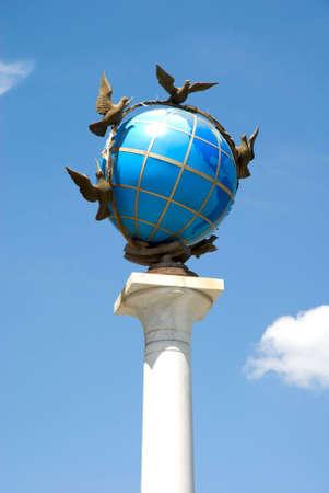 maidan: monument in kiev Stock Photo