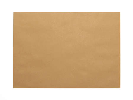 Brown Envelope document on white background Stock Photo - 8082104