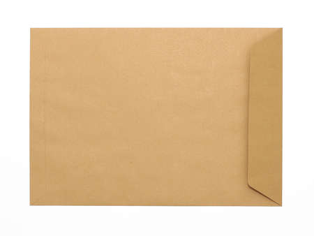 Brown Envelope document on white background photo