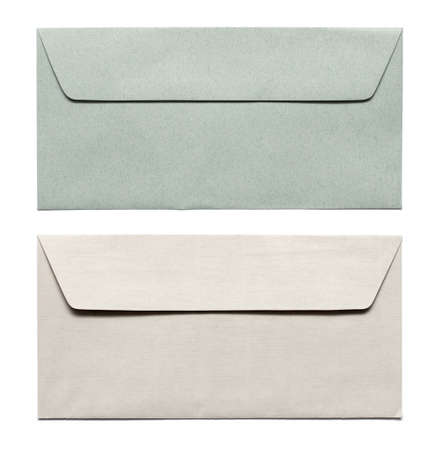 envelope with letter: buste isolate on white
