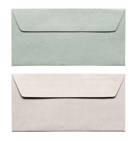 envelopes isolated on white Фото со стока
