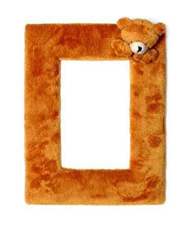 Stylish picture frame isolated over white background photo