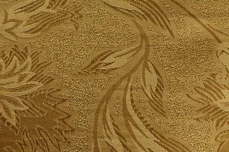 Golden floral ornament brocade textile pattern Stock Photo - 9038524