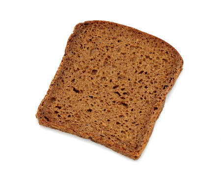 fresh slice of bread: Brown bread slice isolated on white background