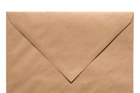 Brown Envelope on white background Stock Photo - 9332450