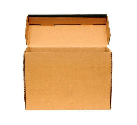 Open cardboard box. Isolated on white background. Stock Photo - 9395695