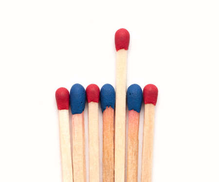 Matchsticks. isolated on white background photo