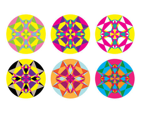 hypnotic: Kaleidoscope geometric pattern. Abstract vector background